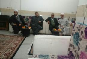 عیادت امام جمعه محترم حاج آقااستیری ازامام جمعه اسبق حسن آباد