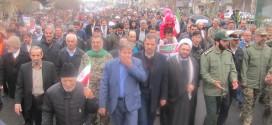 راهپیمایی ۲۲بهمن وجشن چهل سالگی انقلاب درحسن آبادبرگزارشد