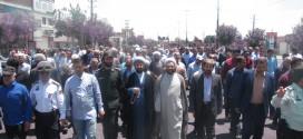 راهپیمایی روزجهانی قدس درحسن آبادبرگزارشد