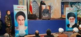 حجت الاسلام والمسلمین استیری امام جمعه باقرشهر: مابه آمریکافقط یک سیلی زدیم ،امابرای آمریکاییها خیلی سنگین تمام شد