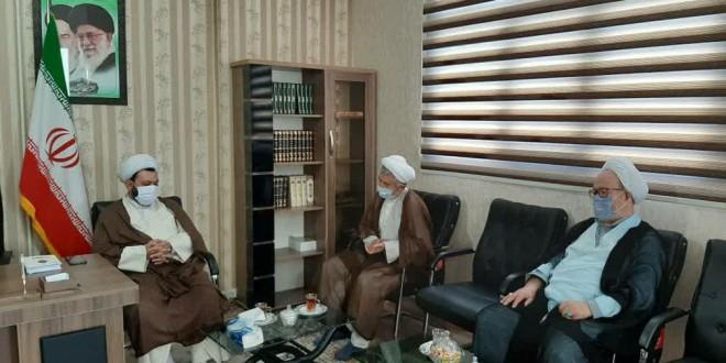 دیدار اعضای دفتر آیت الله محقق کابلی با امام جمعه محترم باقرشهر