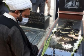 به مناسبت هفته دفاع مقدس مزار شهدای باقرشهر وکهریزک در بهشت زهر (س)گلباران و غبار روبی شد