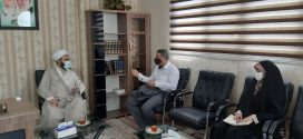 جلسه همکاری فیما بین آموزش و پرورش منطقه کهریزک وامام جمعه محترم باقرشهر